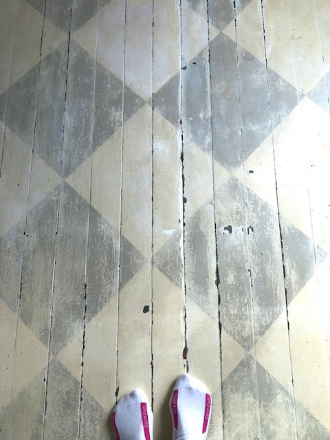 Old Painted Floor