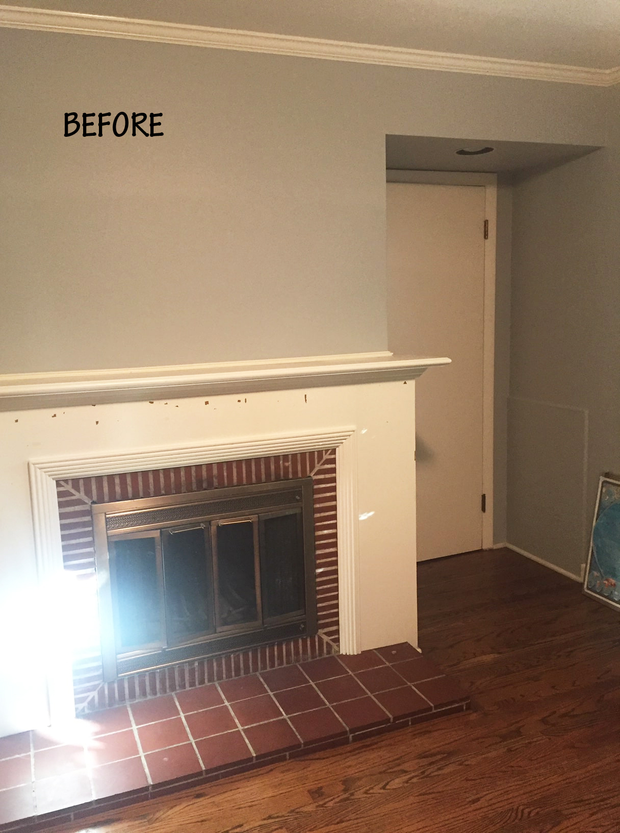 Before Fireplace Surround