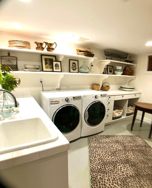 Decorated Laundry Room