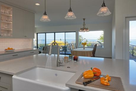 View to the Puget Sound-Award Winning Kitchen Design