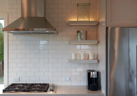 Open Shelving with LED Lighting-Award Winning Kitchen Design