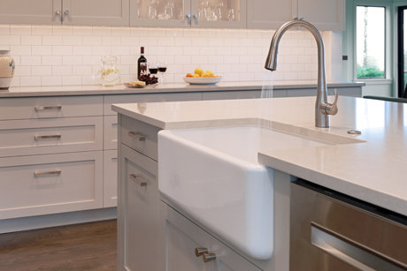 Farmhouse Sink Looking South-Award Winning Kitchen Design