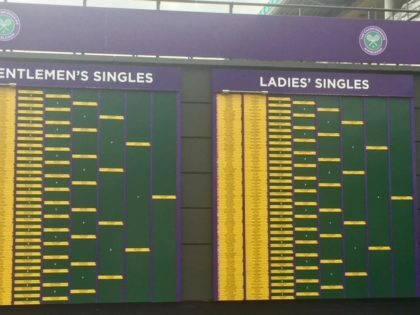 Wimbledon Scoreboard 2017