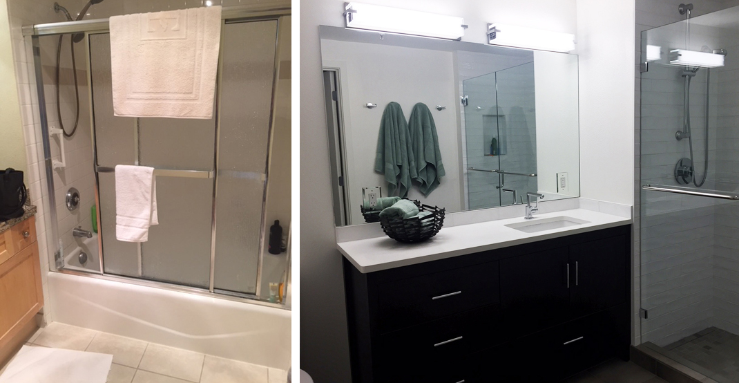 Before and After Makeover-Shower