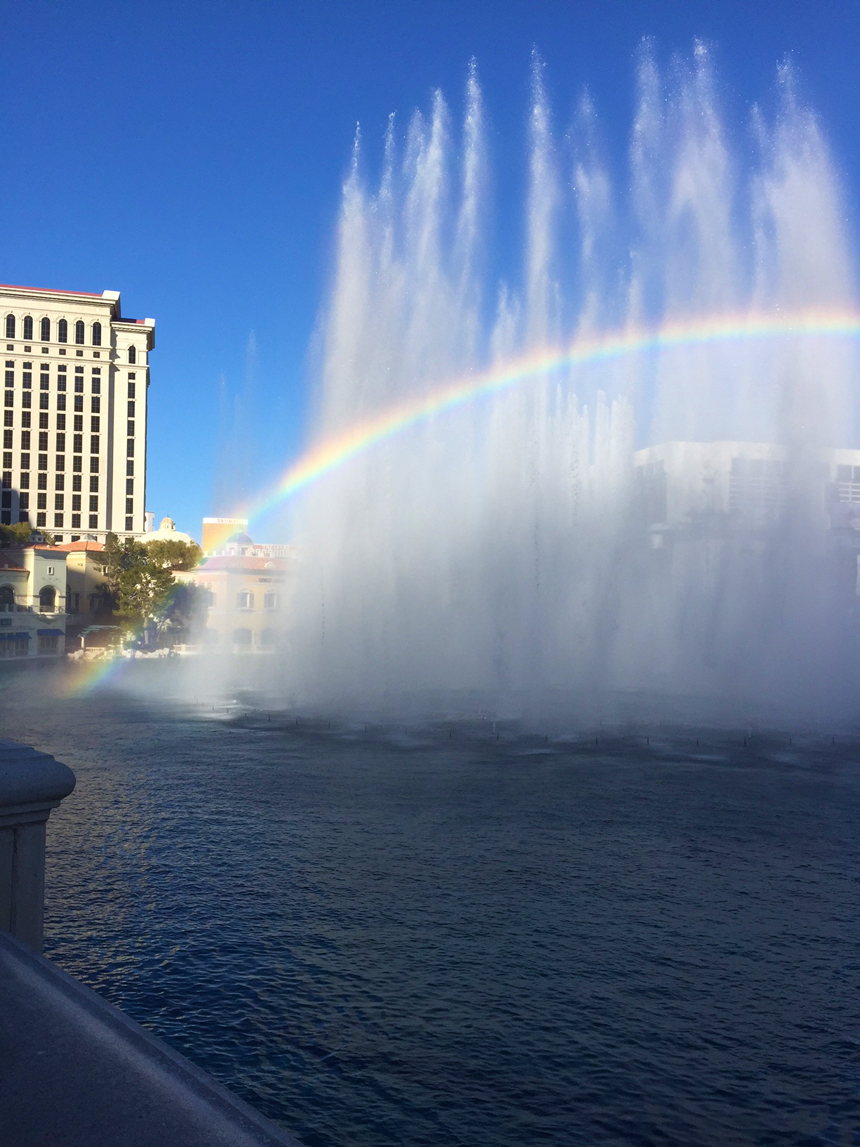 Rainbow at the Bellagio Fountains
