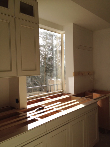 Installing the Sink Cabinets