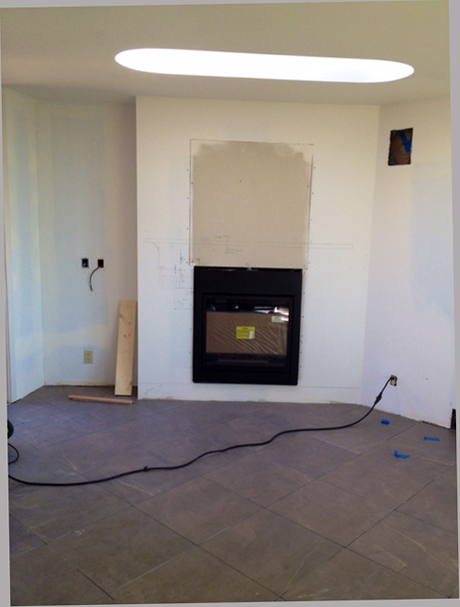Detailingthe new Flush Fireplace Wall