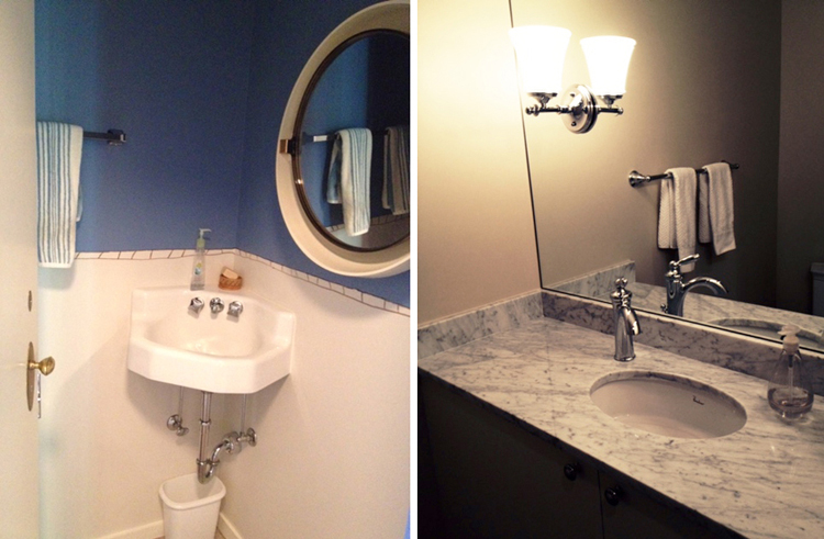 Before and After Makeover-Powder Room