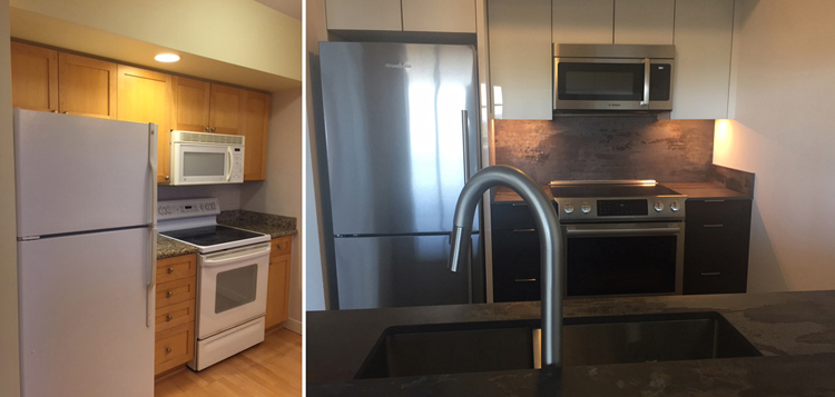 Before and After Makeover -Dekton