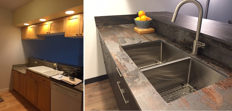 Before and After Makeover-Prep and Sink