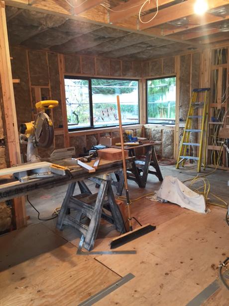Installing the New Windows in the Kitchen-Award Winning Kitchen Design