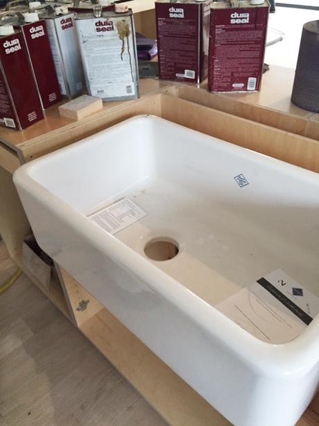 Installation of the Farmhouse Sink-Award Winning Kitchen Design